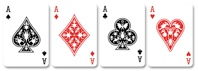Playing card aces